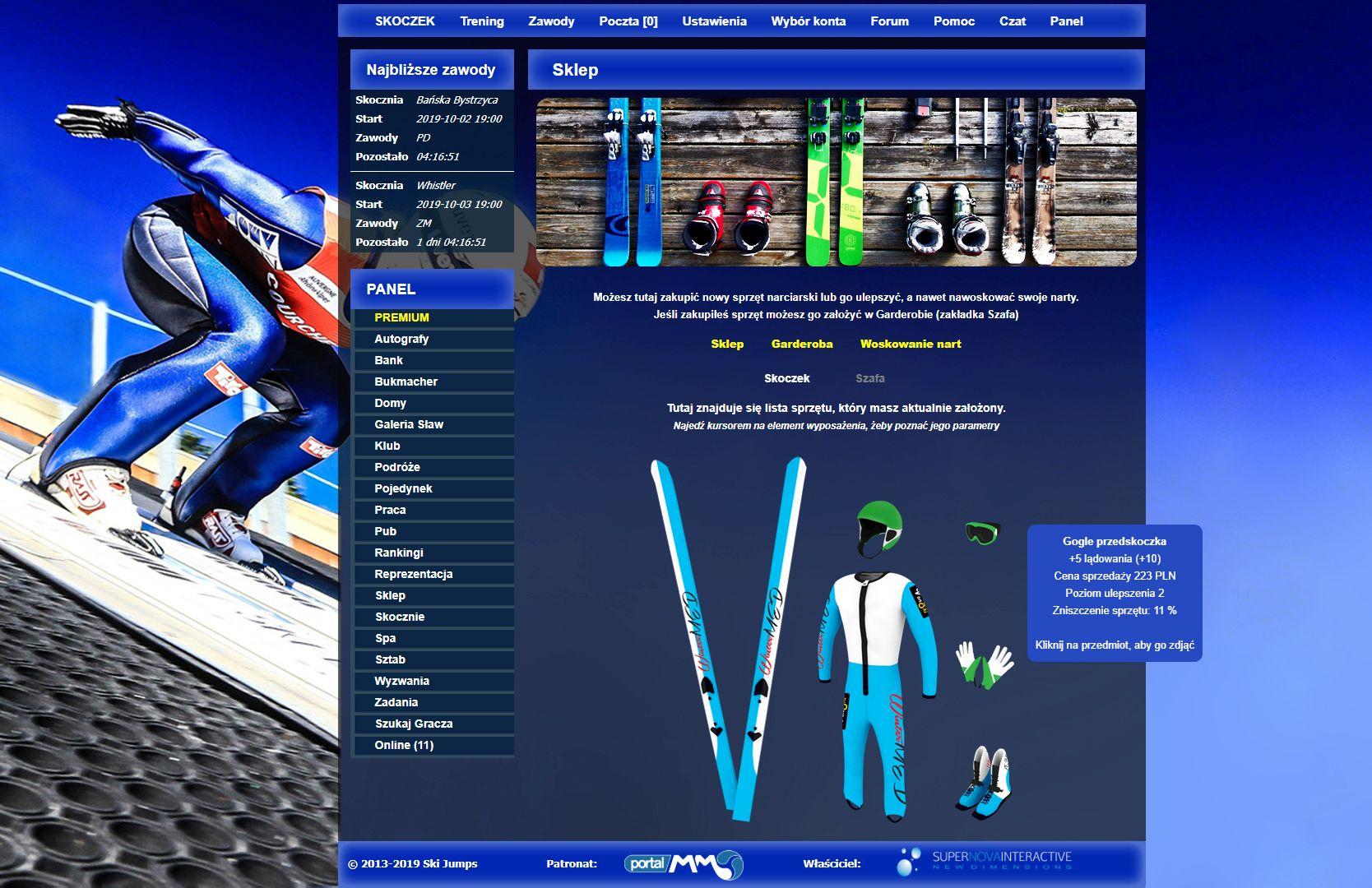 Ski Jumps - gra skoki narciarskie online manager
