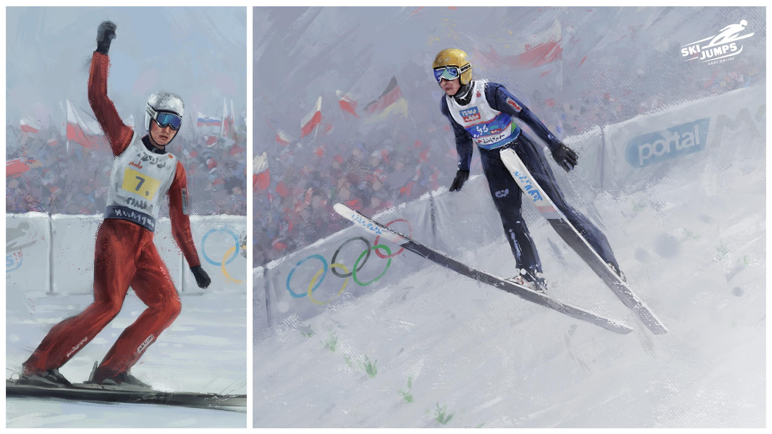 gry zimowe narciarskie