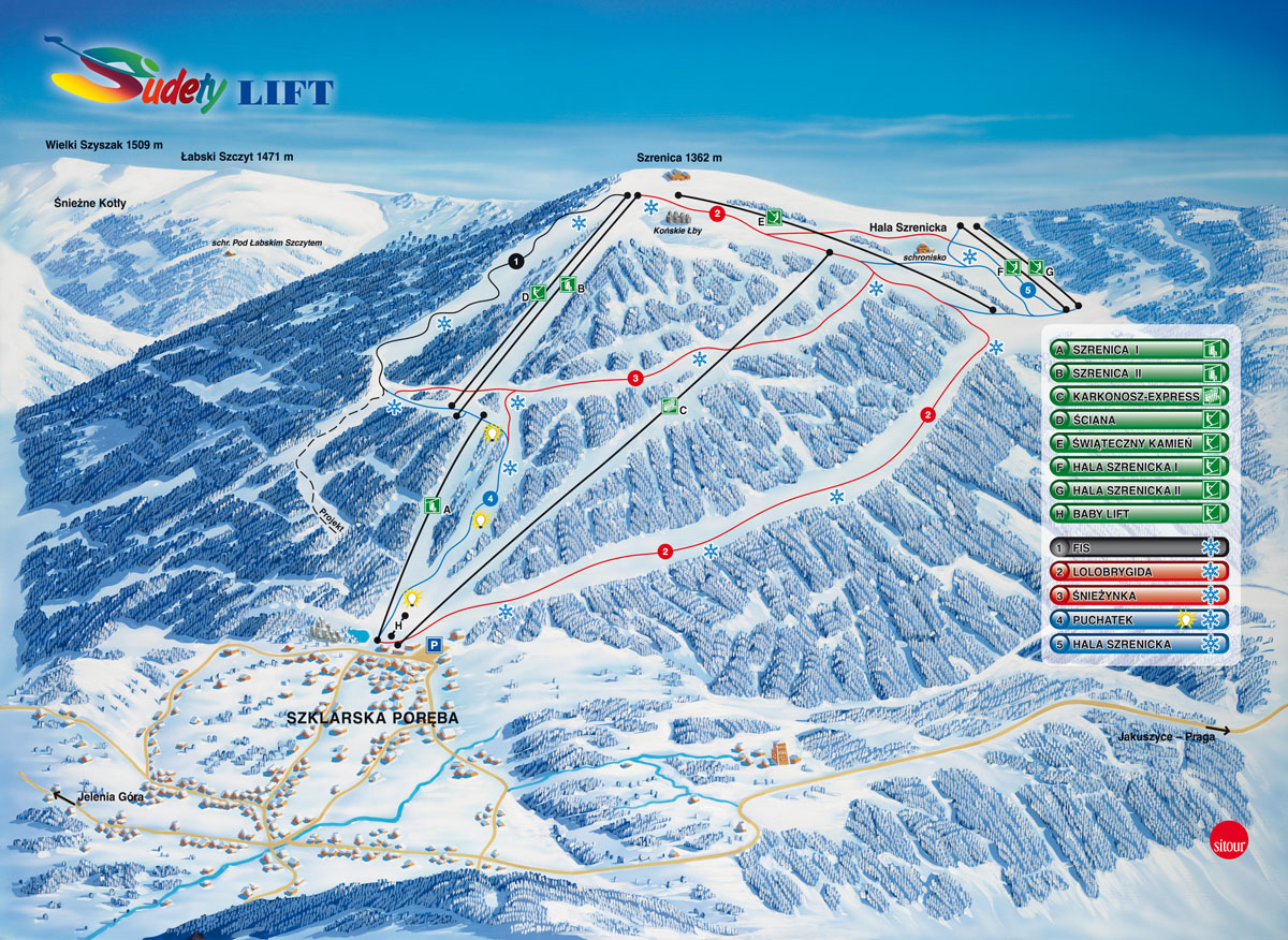 ski arena szrenica narty mapa