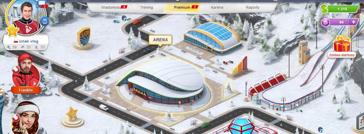 Ski Jump Mania 3 - internetowa gra online skoki narciarskie