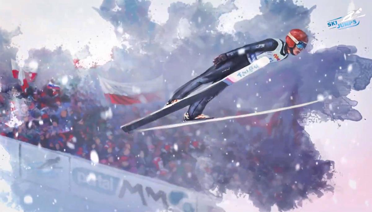 Ski Jumping trailer gry skoki narciarskie